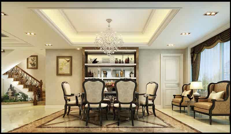 欧式新古典风格别墅装修案例